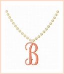 Necklace Monogram Design