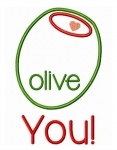 Olive You! Applique Design