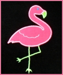 Pink Flamingo Applique