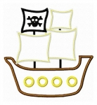 Pirate Ship Applique 2