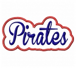 Pirates Script Applique