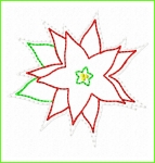 Poinsettia Feltie Design