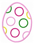 Polka Dot Egg Applique