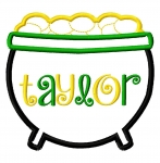 Pot 'O Gold Applique Design