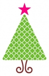 Quatrefoil Christmas Tree SVG