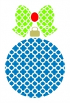 Quatrefoil Christmas Ornament and Bow