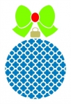 Quatrefoil Ornament with Solid Bow