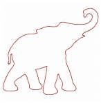 Raggy Elephant Applique