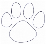 Raggy Applique Paw Print