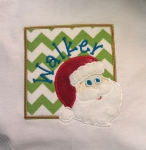 Santa in Frame Applique