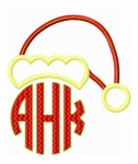 Santa Hat Monogram Topper Applique