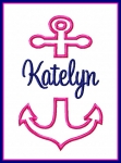 Split Anchor Applique with Filled Split Anchors