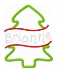 Split Christmas Tree Applique