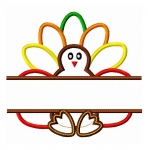 Split Turkey Applique