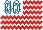 Stars and Stripes Monogram Frame Flag