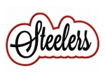Steelers Script Double Applique