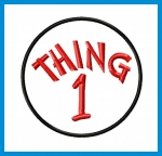 Thing 1 & Thing 2 Applique