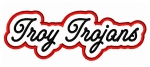 Troy Trojans Script Applique
