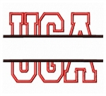 UGA Split Applique