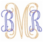 Vine Solid Bean Embroidery Font