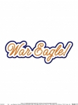 War Eagle Script Applique