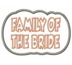 Family of the Bride Applique