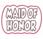 Maid of Honor Double Applique