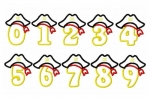 Pirate Hat Applique Birthday Numbers